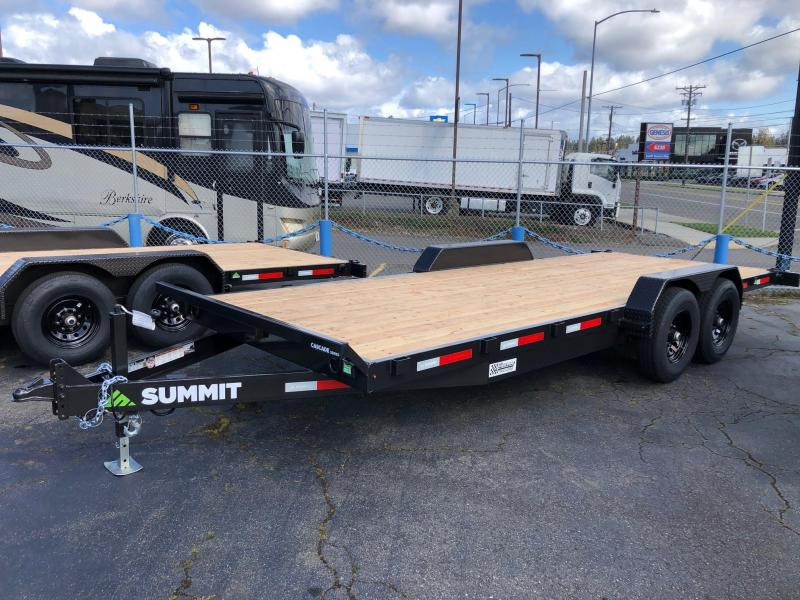2021 Summit 7' X 18' Cascade Series 14K Flatbed Flatbed Trailer