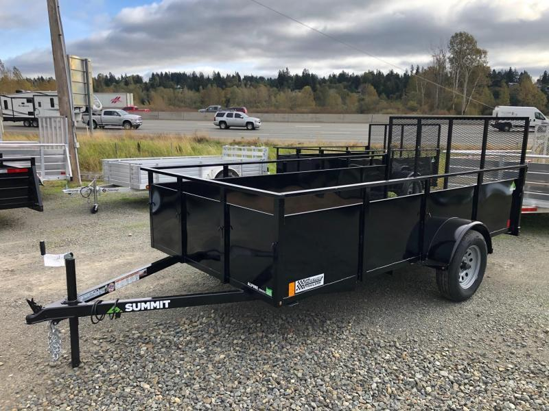 2021 Summit  4' X 8' Alpine Utility Utility Trailer