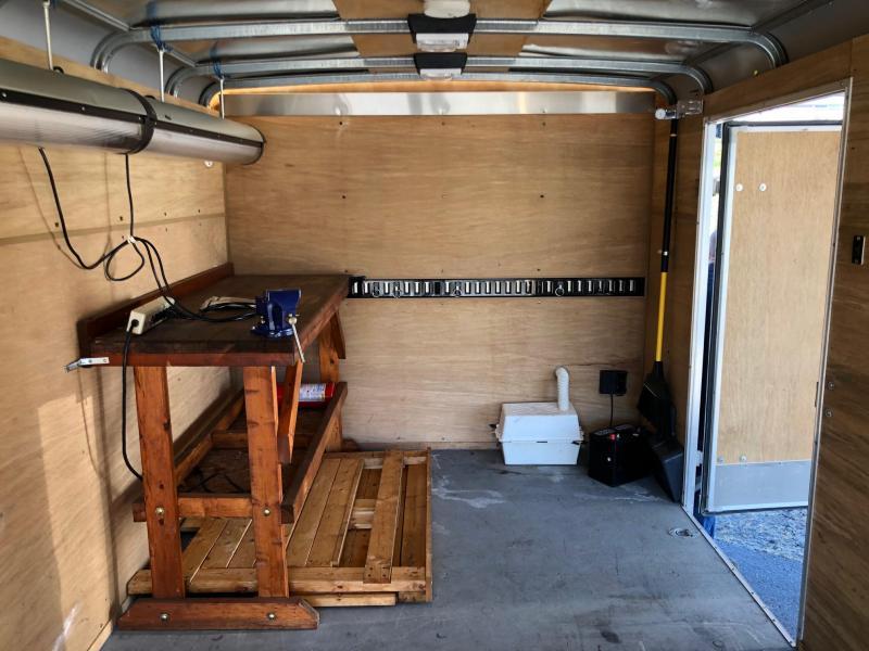1999 Wells Cargo 7' X 16' Cargo Wagon Enclosed Cargo Trailer