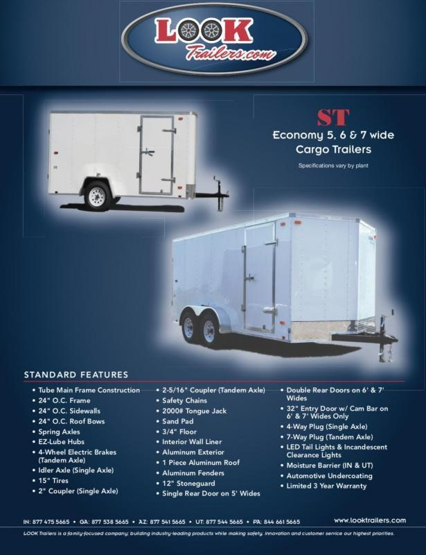 2021 Look Trailers ST Cargo Enclosed Cargo Trailer