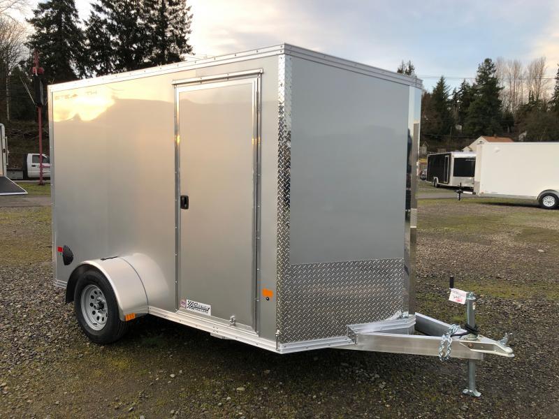 2021 Alcom-Stealth 6' X 10' V-Front Stealth Cargo Enclosed Cargo Trailer