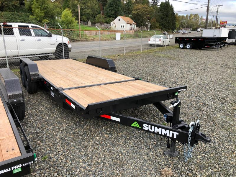 "2021 Summit 7' X 20' Cascade 6"" Split Tiltbed Removable Fenders Flatbed Trailer"