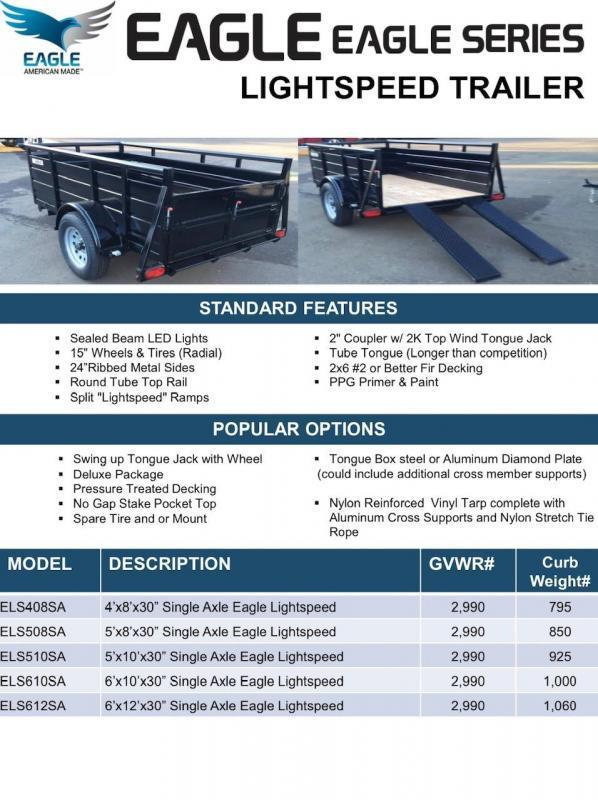 2020 Eagle Trailer Eagle Lightspeed Utility Trailer