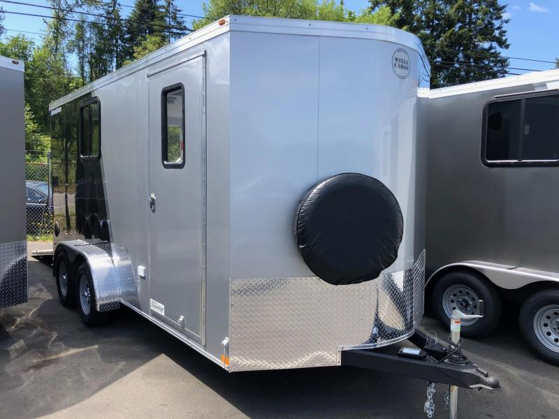 2020 Wells Cargo 7' X 16' Road Force V-Nose Enclosed Cargo Trailer