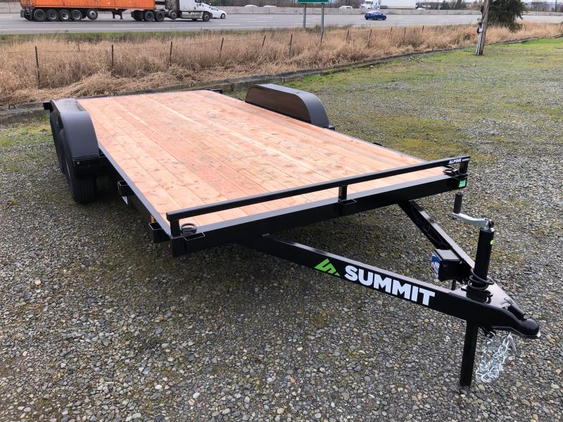 2021 Summit 7' X 16' Alpine Flatbed Trailer