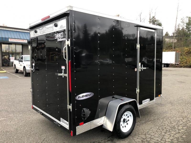 2021 Look Trailers 6' X 10' Element Cargo Enclosed Trailer