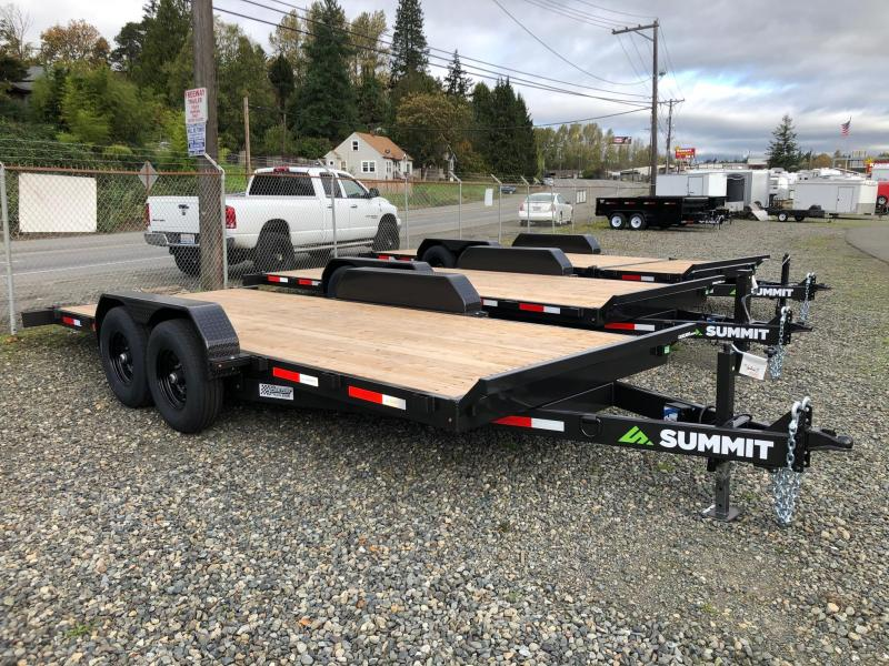 "2021 Summit 7' X 18' Cascade 6"" Tiltbed Removable Fenders Flatbed Trailer"