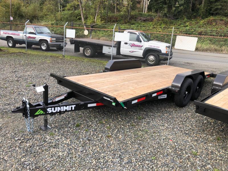 "2021 Summit 7' X 18' Cascade 6"" Tiltbed Removable Fenders Flatbed Trailer"