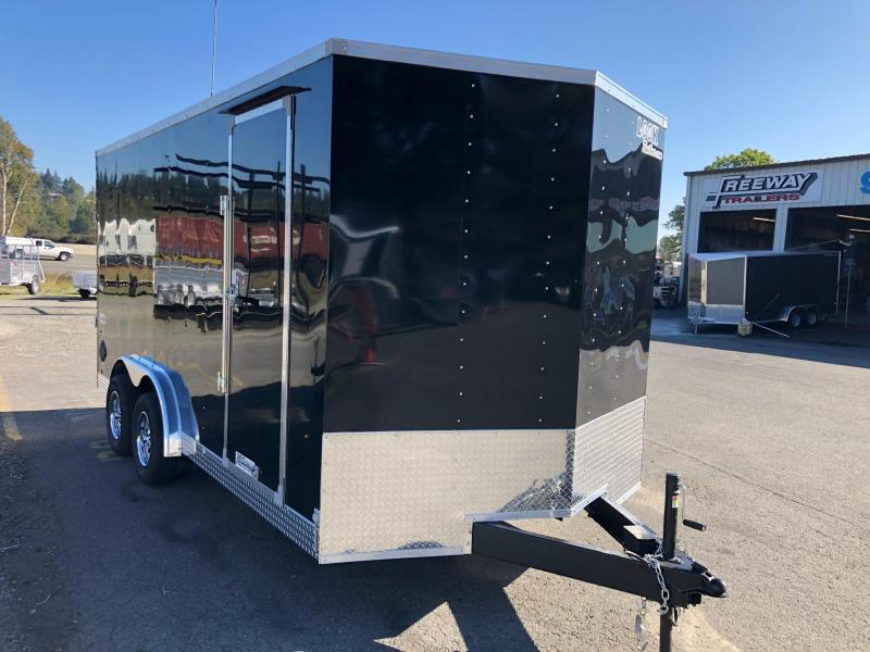2021 Look Trailers 7.5' X 16' Element Flat Top V-Nose Enclosed Cargo Trailer