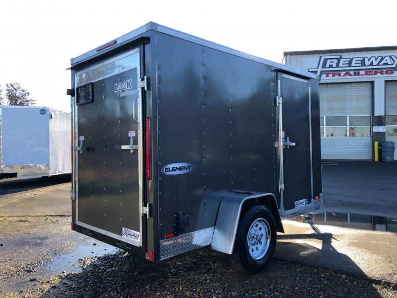 2022 Look Trailers 5' X 10' Element Cargo Enclosed Trailer