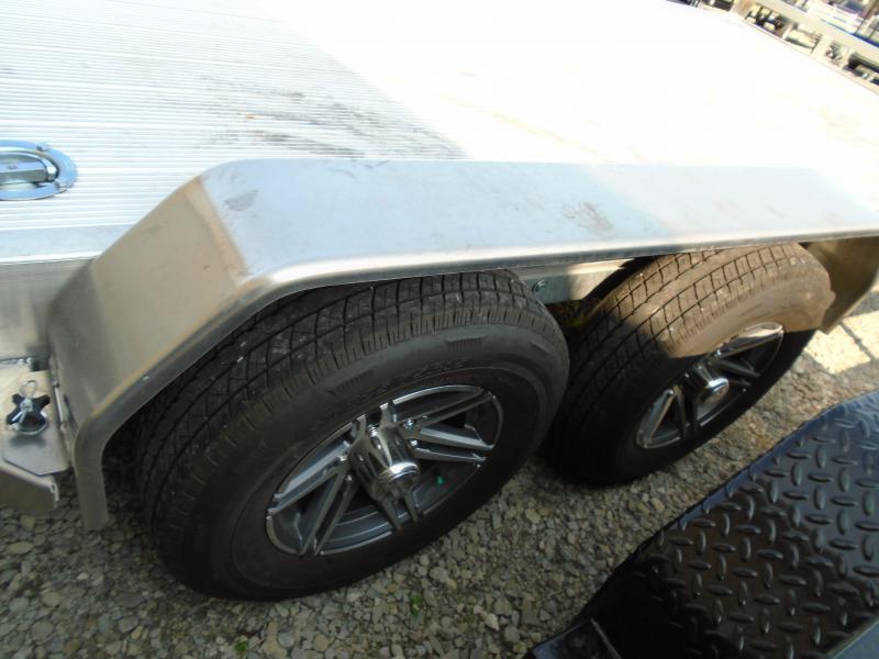 USED 2021 Sure-Trac 7 X 18 (14+4) C-Channel Aluminum Car Hau