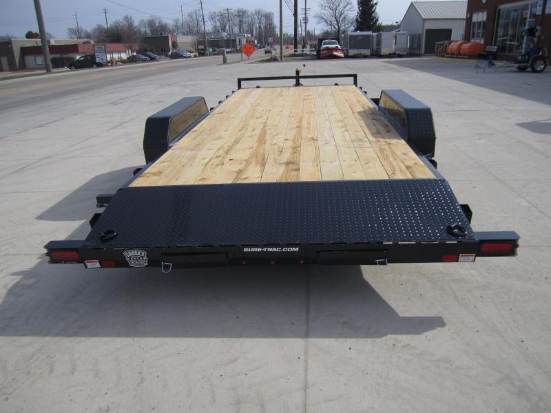 Sure-Trac 7 X 20 Wood Deck Car Hauler  10k