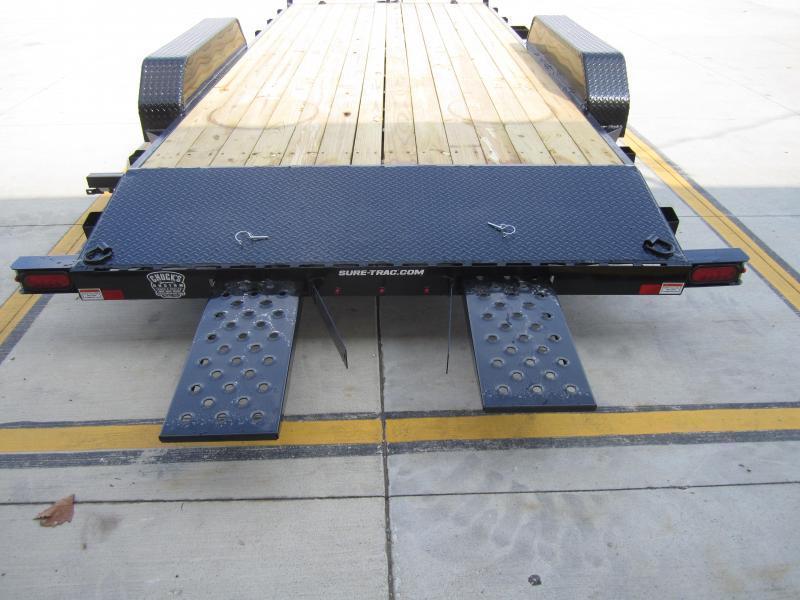Sure-Trac 7 X 18 Wood Deck Car Hauler  7k