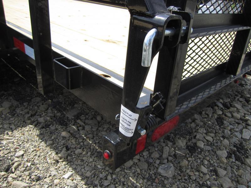 Sure-Trac 7 x 18 Tube Top Utility Trailer  10K Tan