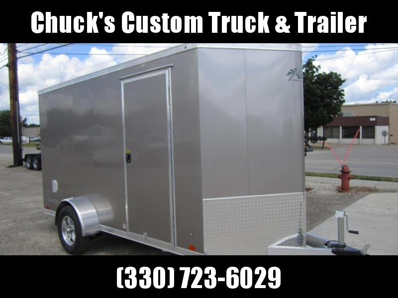 2021 ATC 6'X12' RAVEN RAMP DOOR WEDGE NOSE Enclosed Cargo Trailer