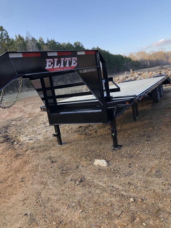 "2021 Elite Trailers 102""x25' Flatbed Trailer"