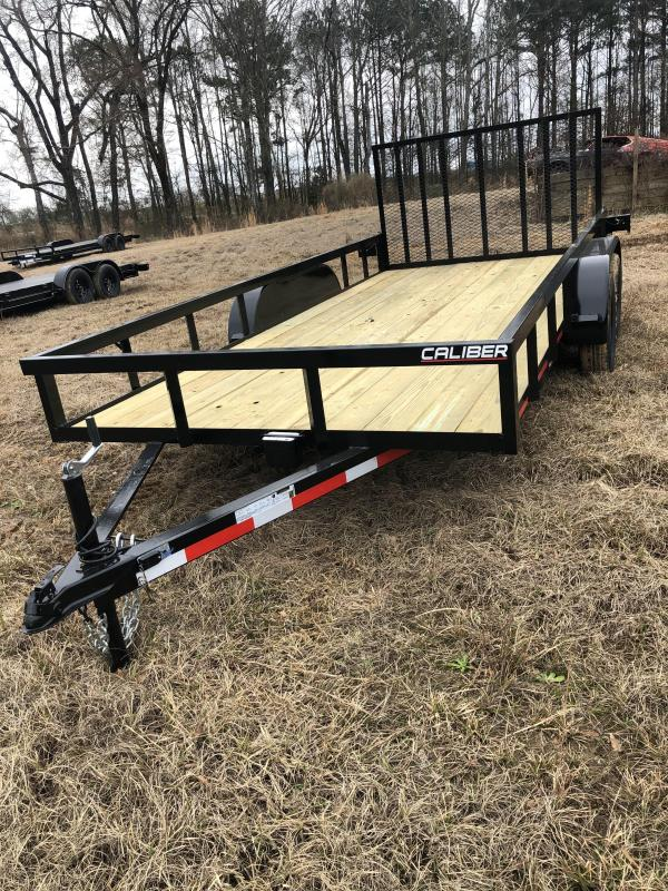 2021 Caliber Trailer Mfg WG716 Utility Trailer