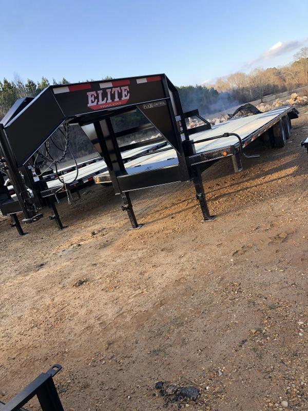 "2021 Elite Trailers 102""x30' Flatbed Trailer"