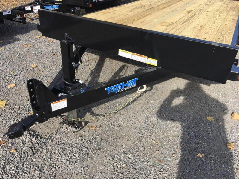 2020 Top Hat Trailers 7x18 Equipment Trailer w/Fold-Up Ramps 10k