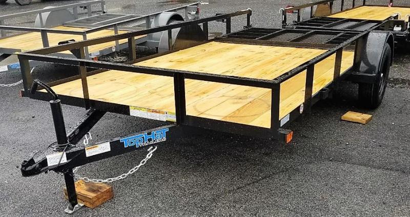 2022 Top Hat Trailers 7X14 Utility Trailer