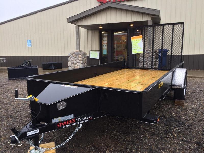 SPARKS 12' Solid Side Utility Trailer  We Deliver !!