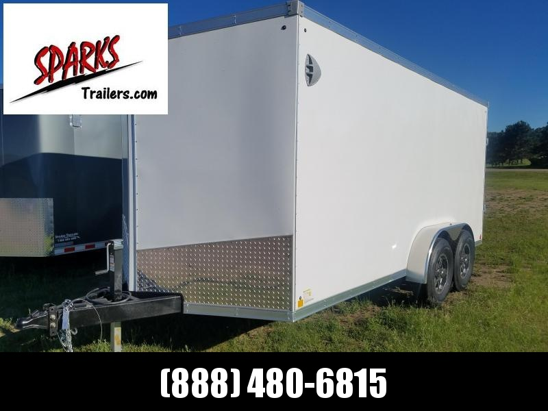 Sparks brand new 7x16' Enclosed with 5200lb axles