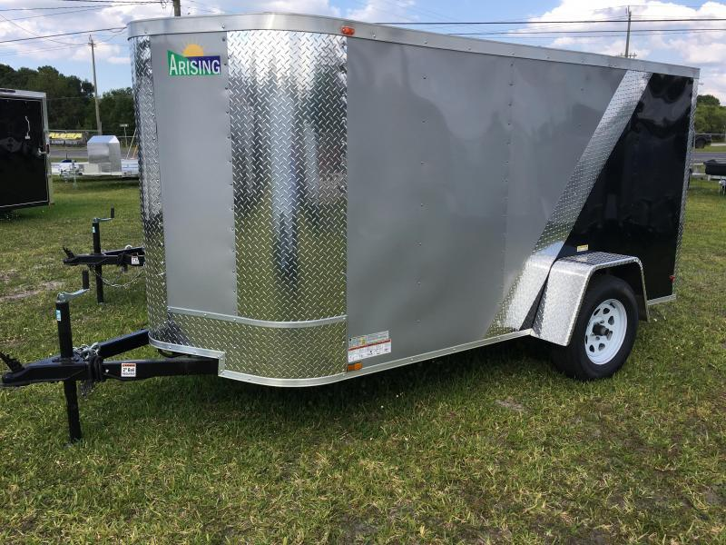 2021 Arising 5x10 Single Axle Enclosed Cargo Trailer