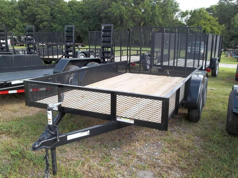 2021 Triple Crown 6x12 Tandem Axle Mesh Open Utility Trailer