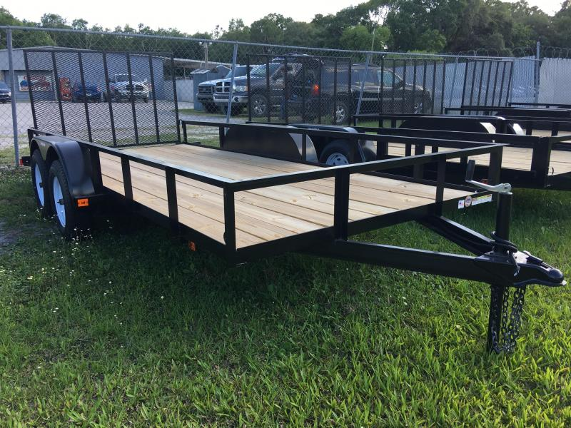 2021 Triple Crown 6x16 Tandem Axle Open Utility Trailer