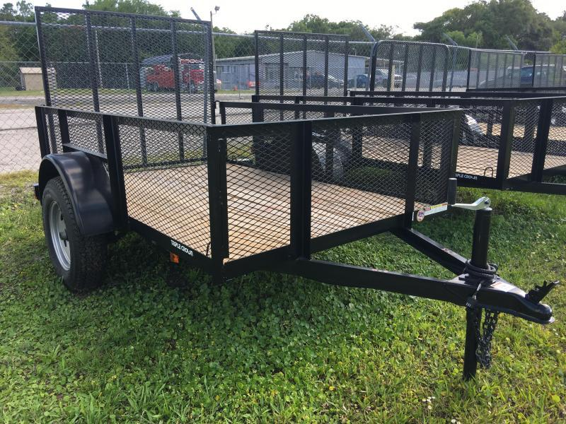 2021 Triple Crown 5x8 Single Axle Mesh Open Utility Trailer