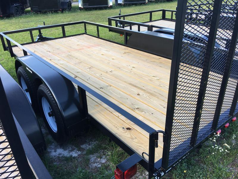 2018 Triple Crown 7x14 Tandem Axle Open Utility Trailer