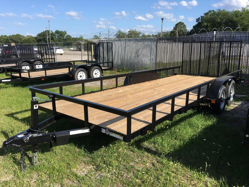 2021 Triple Crown 7x20 Tandem Axle Open Utility Trailer