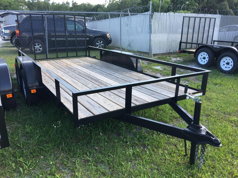 2021 Triple Crown 6x14 Tandem Axle Open Utility Trailer
