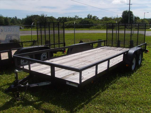 2021 Triple Crown 7x18 Tandem Axle Open Utility Trailer