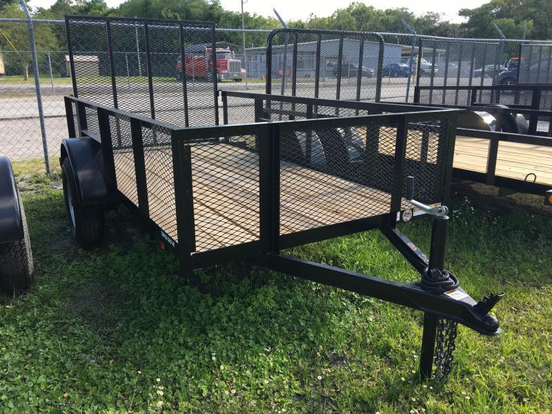 2021 Triple Crown 5x10 Single Axle Mesh Open Utility Trailer