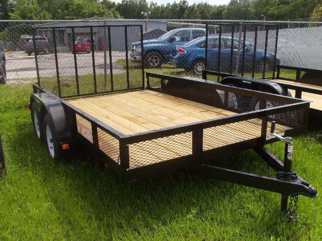 2021 Triple Crown 7x12 Tandem Axle Mesh Open Utility Trailer
