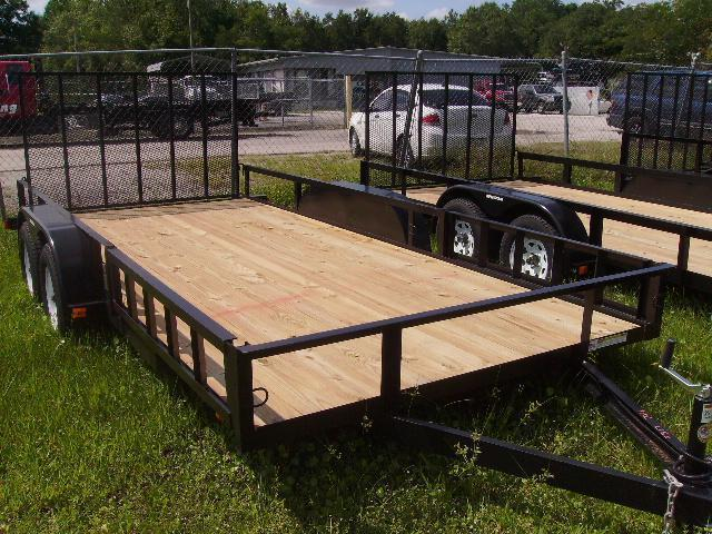 2021 Triple Crown 7x16 Tandem Axle Open Utility Trailer
