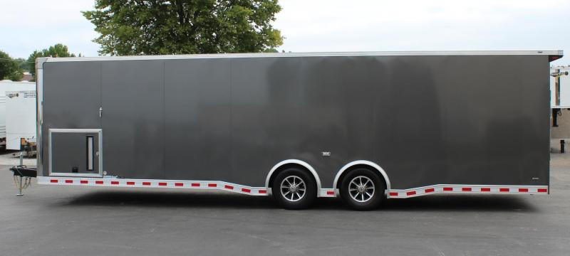 <b>Charcoal Metallic Exterior</b>  2021 30' Millennium Extreme Wing/Finished Interior/Spread Axles & More!