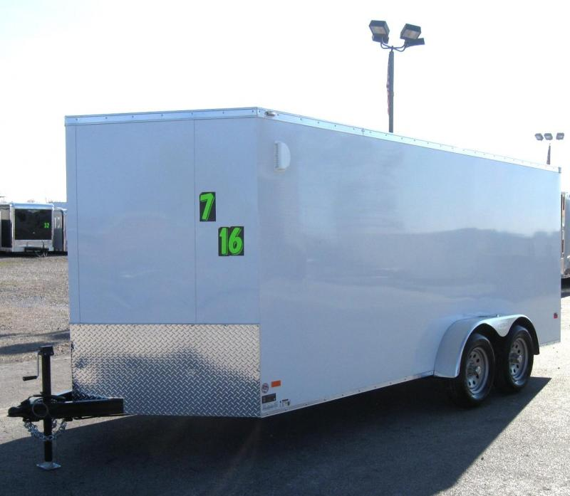 7'x16' Scout Enclosed Cargo Trailer w/Plus Pkg/ Torsion Axles PLUS FREE OPTIONS