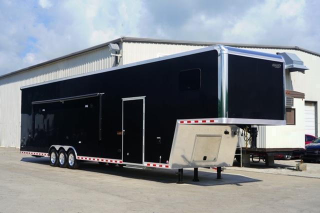 SOLD! Order Your's! Living Quarter Trailer for Pulling Truck 46' ICON FULLY LOADED 10k Axles 10KW Onan Gen