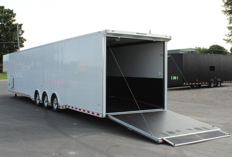 """92"""" Wide Ramp Door! Now Ready!  2021 48' Millennium Extreme Gooseneck Loaded Out!"""