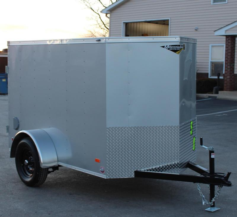 5' x 8' Scout Enclosed Cargo Trailer w/Dbl Rear Doors