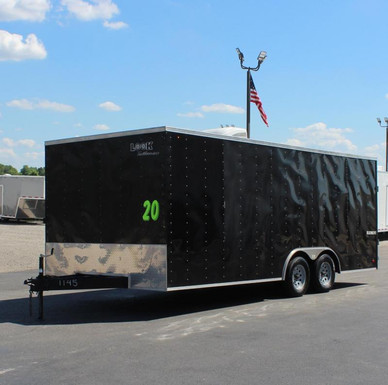<b>PRE-OWNED</b> 2014 20' Look  Element Car Trailer A/C & Finished Interior