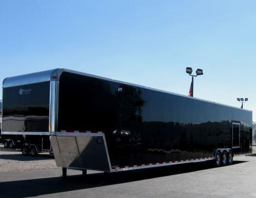 Custom 53' Millennium Enclosed Gooseneck Trailer w/Ramp Overs