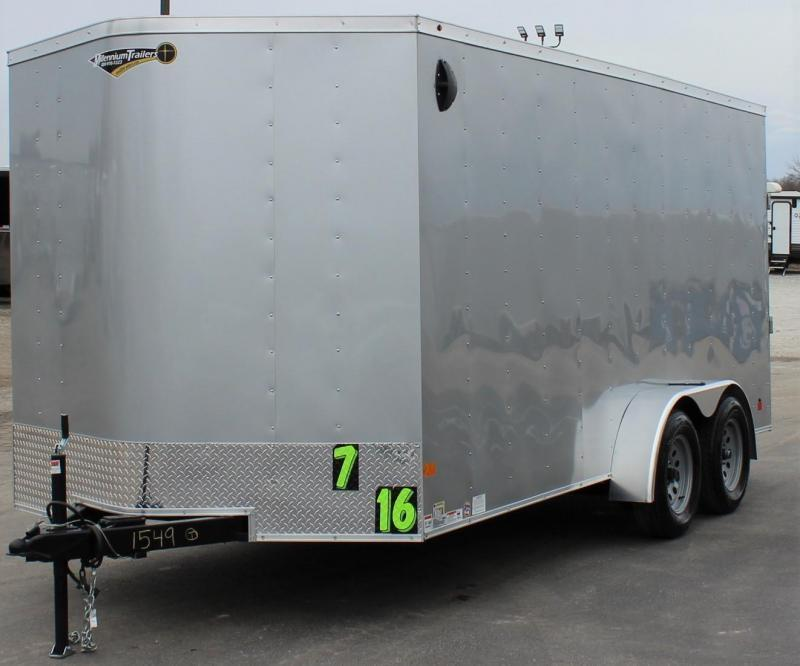 2021 Silverfrost 7' x 16'  Passport V-Nose Trailer w/Ramp Door