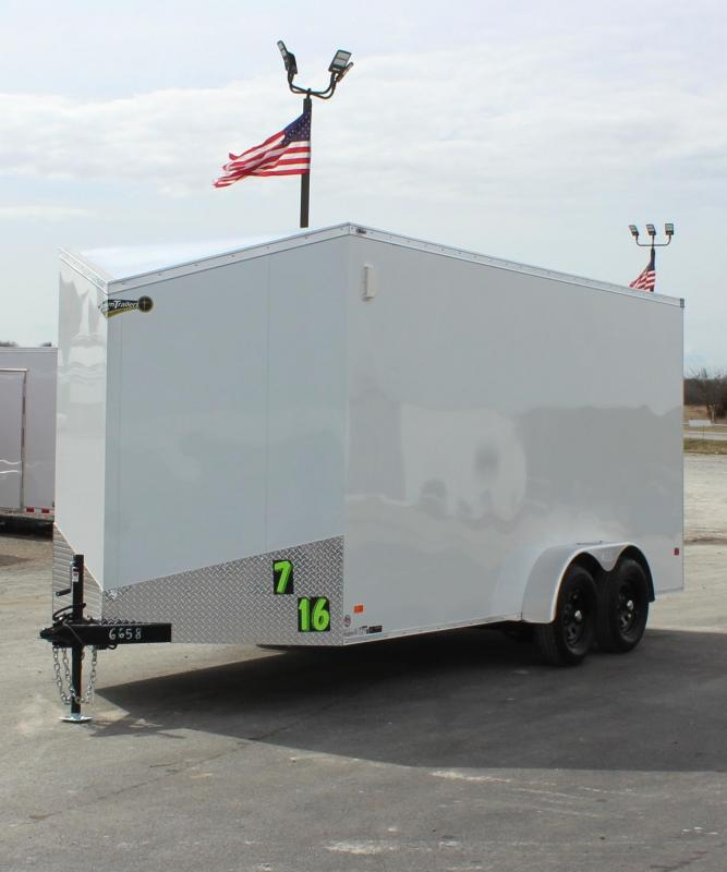 2021 7'x 16' Scout Screwless Cargo w/Ramp Door/12