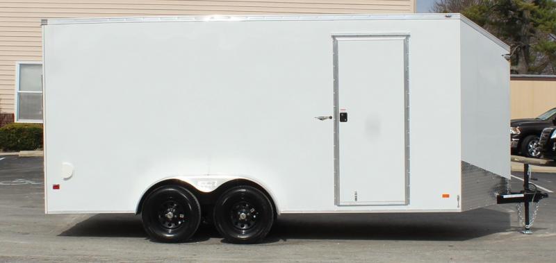 "7'x 16' Scout Screwless Cargo w/Ramp Door/12"" Extra High Free Options"