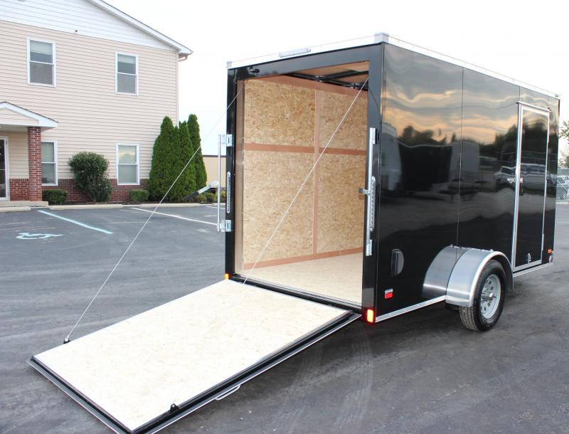 6'x12' Scout Black Enclosed Cargo Trailer with Plus Package Free Options