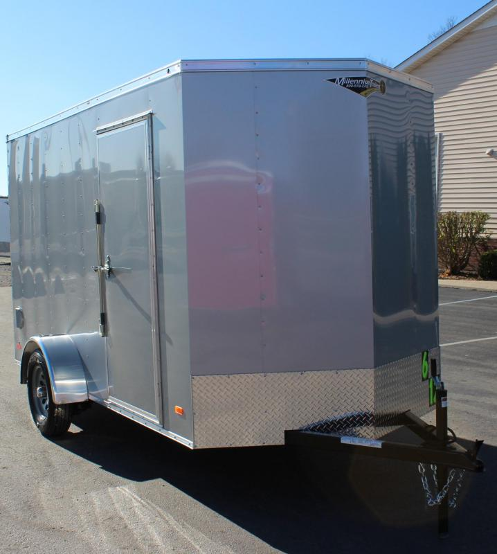 <b> NOW AVAILABLE</b>  2021 Silver 6'x12' Hero Enclosed Cargo Trailer Ramp Door &  6