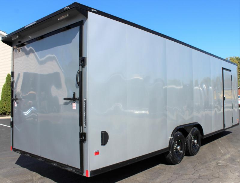 <b>4th of July Reduction</b> 2020 24' Millennium Scout Race Trailer Lighted Wing & Black Out Pkg.
